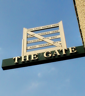 Barnet Gate pub sign