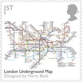 London Underground map stamp