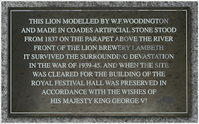 South Bank lion inscription