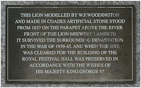 South Bank lion inscription