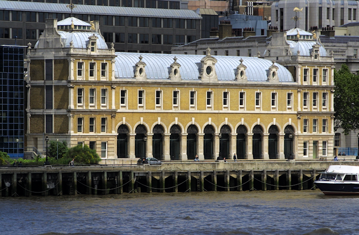Old Billingsgate Market, seen from across the river