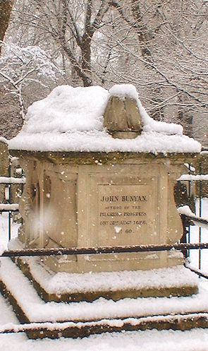 John Bunyan's memorial in Bunhill Fields
