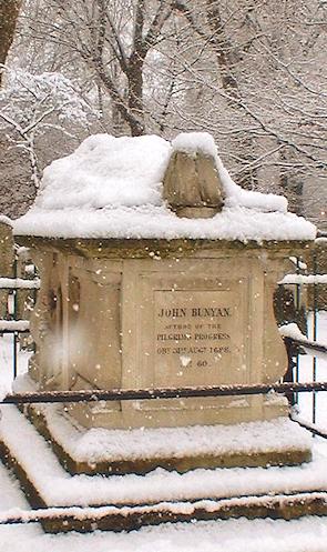 John Bunyan's memorial in Bunhill Fields
