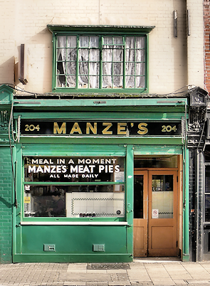 Manze's then and now
