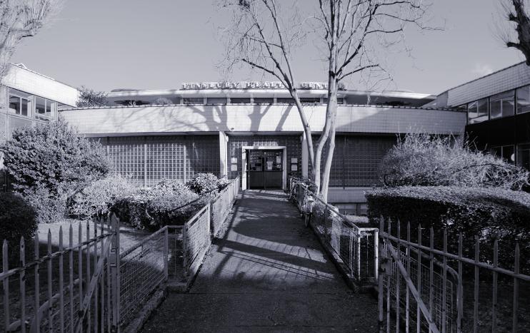 Finsbury Health Centre, monochrome image