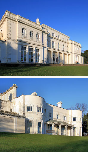 The large and small mansions in Gunnersbury Park