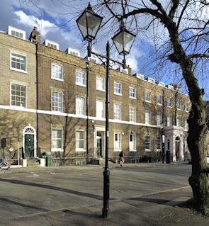 Highbury Place in winter