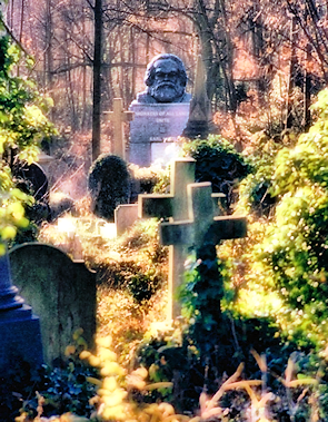 Highgate Cemetery with Karl Marx's tomb