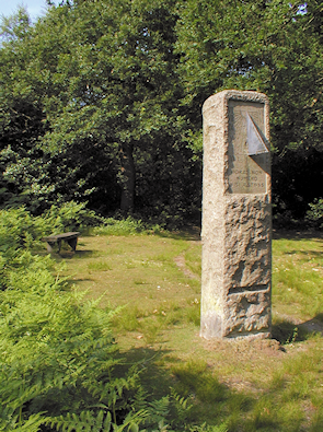 The William Willett memorial obelisk and sundial