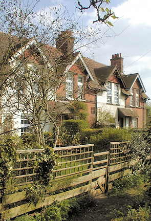 The rear of Plain Tile Cottages