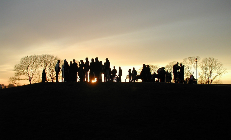 Primrose Hill at sunset