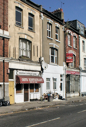 Rectory Road's shops and eateries reflect the area's ethnic diversity, and an absence of wealth – though this photo was taken some years ago