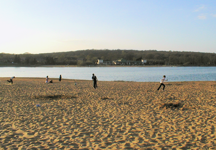 Ruislip Lido in late afternoon sunshine