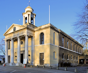 St Johns Wood church in winter