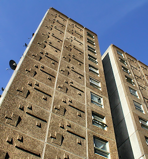 A tower block on the Stonebridge estate
