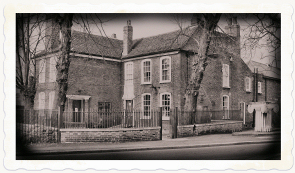 Vestry House Museum with antique effect