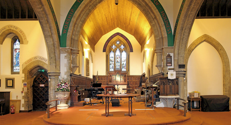 Christ Church, Roxeth Hill - East end, by John Salmon