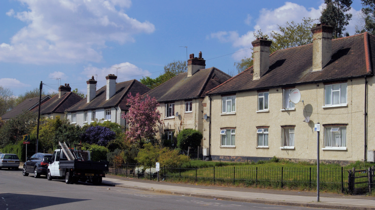 Houses on Sanders Lane - Mill Hill East - geograph-5360708-by-Christopher-Hilton