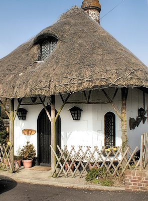The cottage was rethatched in April 2012