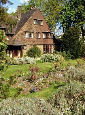 A lush garden and an expensive house