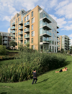New apartment blocks at Woodberry Down