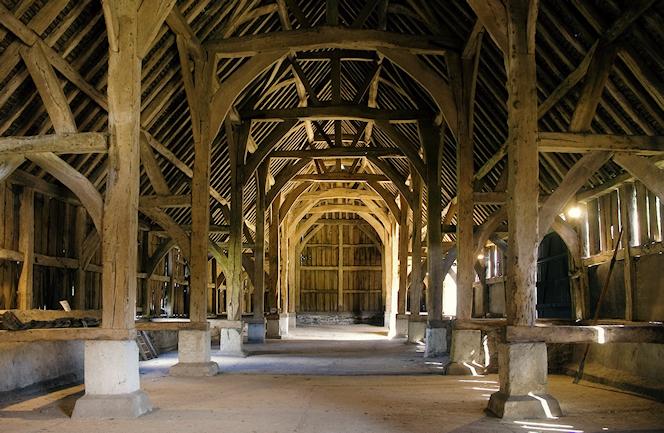 Harmondsworth Great Barn interior