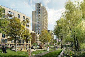 Hendon Waterside (developers' CGI)