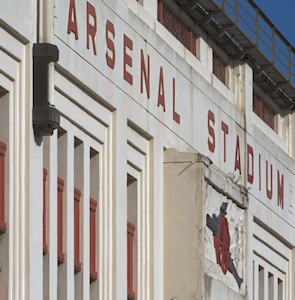 Arsenal Stadium sign at old Highbury