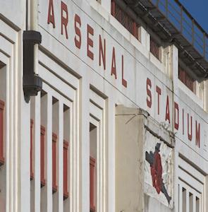 Arsenal Stadium sign at old Highbury