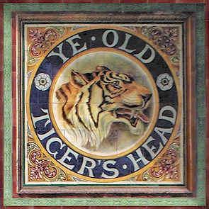 Old Tigers Head, tiled sign