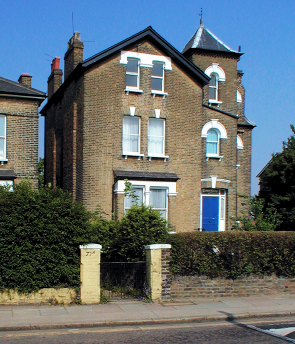 An imposing residence on Dartmouth Park Hill