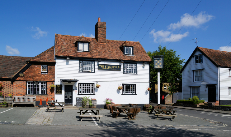 The Five Bells, Chelsfield Village, photographed in 2014 by Barry Marsh