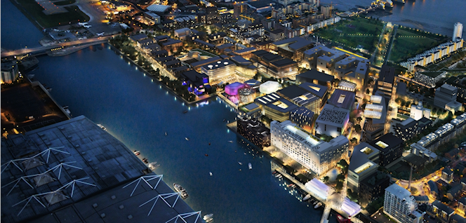 Silvertown Quays CGI vision