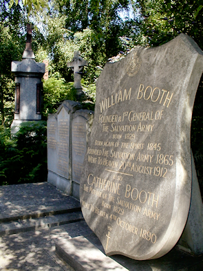 William Booth memorial in Abney Park cemetery