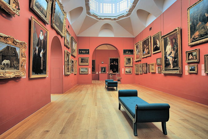 The main room at Dulwich Picture Gallery