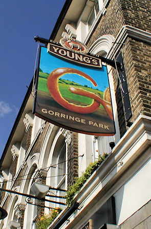 Gorringe Park pub sign