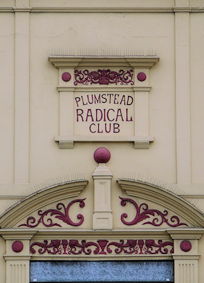 Plumstead Radical Club frontage, detail