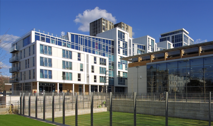 Swiss Cottage Centre - wide view