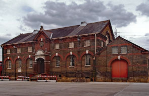The former Longwater pumping station (Tottenham waterworks), Marsh Lane