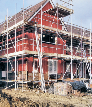 New housing under construction in Dormers Wells, photographed c.2005