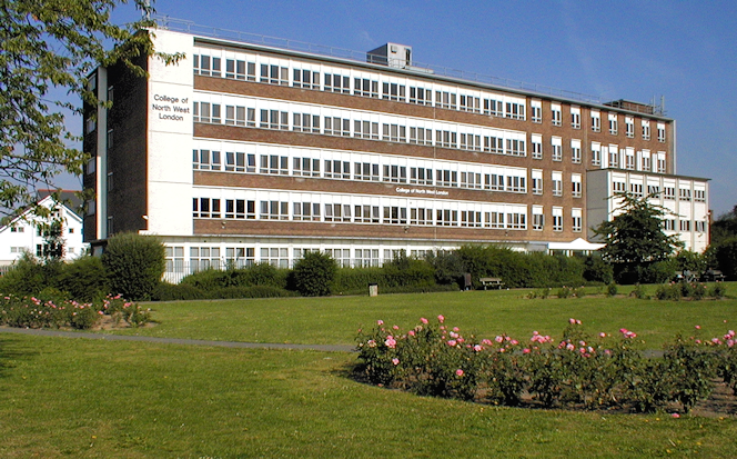 The College of North West London's uninspiring looking Willesden Campus on Dudden Hill Road
