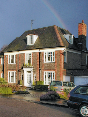 A neo-Georgian house in Hampstead Garden Suburb – and a rainbow