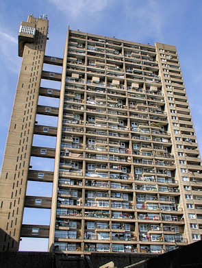 Kensal Town's utterly dominant landmark tower block, Trellick Tower
