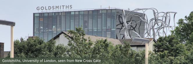 Golsmiths, University of London, taken with a long lens