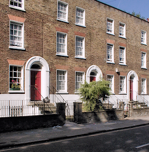 Part of a Georgian terrace on Stepney Green