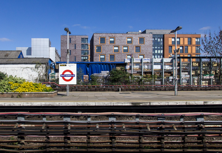 West Hampstead Underground Station and ISL Student Living - geograph-3930612-by-David-P-Howard