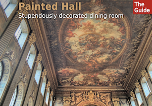 The Painted Hall - a stupendously decorated dining room