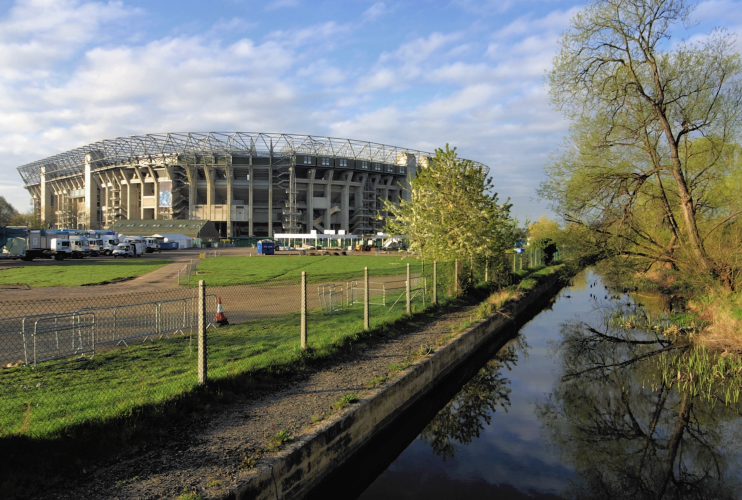 Twickenham Stadium, early morning
