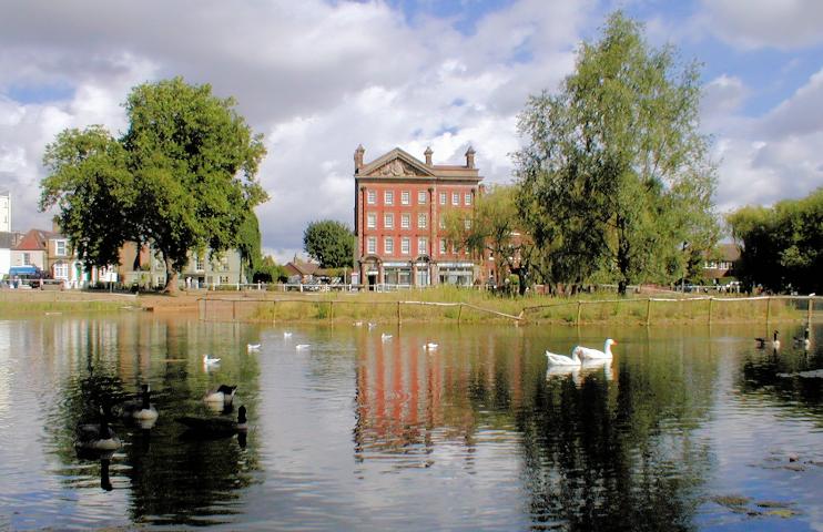 Barnes village pond