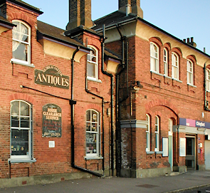 Chingford station and Nicholas Salter Antiques